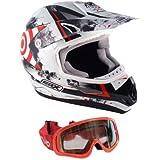 MX-5 Casque de moto Enduro, quad, tout-terrain (avec masque) Rouge XS rouge