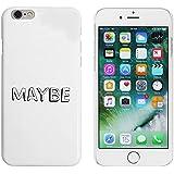 Blanco 'Maybe' Funda / Carcasa para iPhone 6 y 6s (MC00035710)