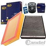 Filterset Inspektionspaket 1 Filter, Innenraumluft (mit Aktivkohle) 1 Verschlussschraube, Oelwanne 1 Oelfilter 1 Luftfilter 1 Oelwechselanhaenger