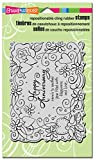 #5: Stampendous Cling Stamp 7.75