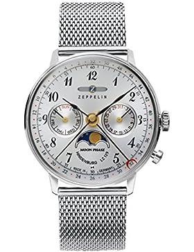 Zeppelin Unisex-Armbanduhr Chronograph Quarz Edelstahl 7037M-1