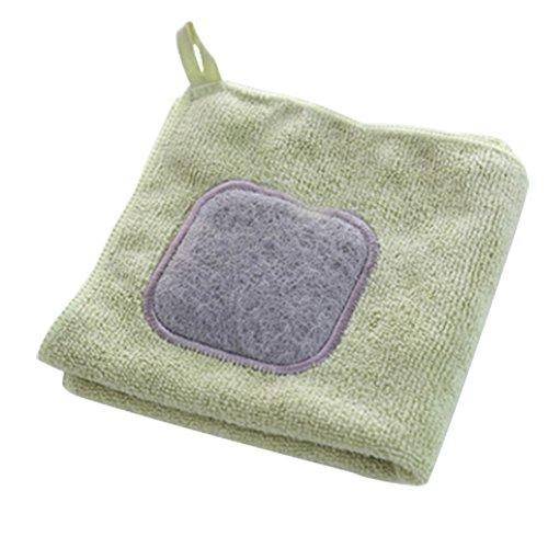 Nikgic Reinigungstücher Mikrofaser-Reinigungstücher Mikrofaser Putztuch Lappen Küchentuch (Grün)