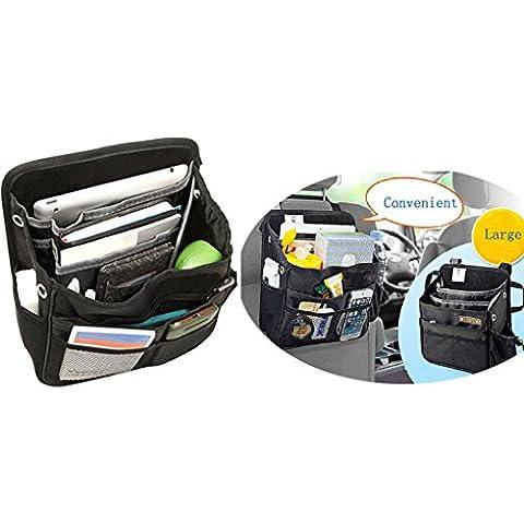 Borsa Organiser per sedile posteriore auto, van, camion, SUV, in tessuto, con tasca, con supporto da viaggio portatablet, poggiatesta per sedile auto, tasca portaoggetti organizer