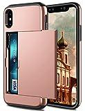 Coolden Coque rigide antichoc ultra-résistante pour iPhone XS, 16,5 cm, porte-cartes...