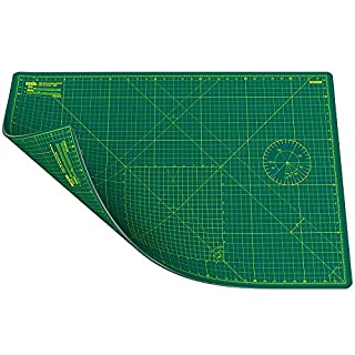 ANSIO Craft Cutting Mat Self Healing A1 Double Sided 5 Layers - Quilting, Sewing, Scrapbooking, Fabric & Papercraft - Imperial/Metric 34 Inch x 22.5 Inch / 89cm x 59cm - Green/Green