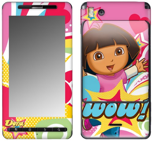 MusicSkins MS-DORA30151 Schutzfolie für Motorola Droid X/X2, Dora The Explorer Pop Denim, Dora The Explorer