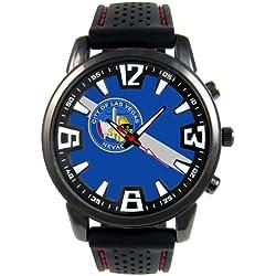 Las Vegas US City Flag Mens Black Jelly Silicone Wrist Watch
