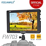 Feelworld FW703 7 Zoll Kamera DSLR Monitor Camera Field Full HD Focus Video Assist 1920x1200 IPS mit 4K HDMI 3G SDI Input Output Histogram