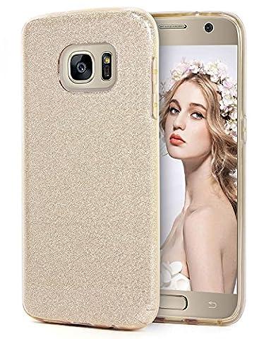 Galaxy S7 Hülle, Imikoko® Glitzer Strass Hülle Handyhülle Schutzhülle [Weiche