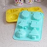 6 cavità del silicone di Natale antiaderente torta di pane muffa del cioccolato della caramella della gelatina del sapone muffa di cottura