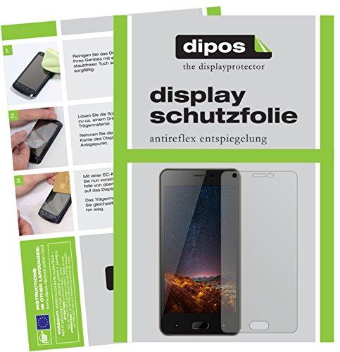 dipos I 6X Schutzfolie matt passend für Doogee X20L Folie Bildschirmschutzfolie