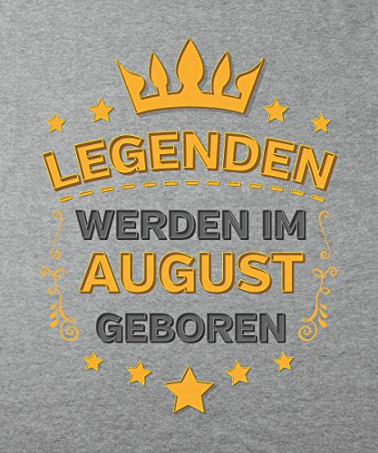 -- Legenden werden im August geboren -- Boys T-Shirt Sports Grey