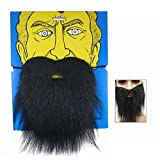 Black Color Fake Beard Mustache for Costume Ball By Joy cart