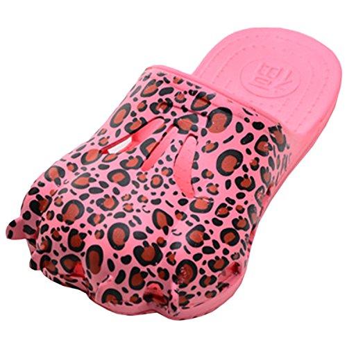 Oasap Femme Mode Tongs Forme Patte Intérieur Anti-dérapant pink