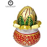 [Sponsored]Riddhi Siddhi Crafts & Creations Marble Kalash (6 Cm X 6 Cm X 8 Cm, White, Pack Of 2) Marble Mangal Kalash With Nariyal For Holy Water In Temple Pooja, Temple Kalash, Pooja Kalash Nariyal, Holy Water Pot And Coconut Puja Article For Festiva