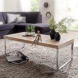 FineBuy Massiver Couchtisch Java 120 x 60 x 40 cm Akazie Massiv Holz Tisch   Design Wohnzimmertisch aus Massivholz   Beistelltisch Rechteckig Braun