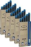 Parker Tintenpatronen Quink 5 Packungen mit gesamt 25 Stück, blau