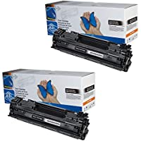 2x Toner CB436A para Hp LaserJet P1505, P1505N, M1120, M1120N, M1120MFP M1522M1522N, M1522NF y M1522MFP