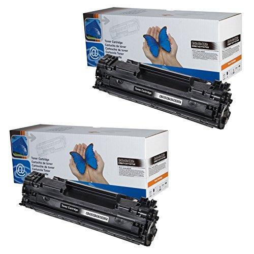 2x Toner kompatibel für CB436A HP Laserjet P1505 P1505n M1120 M1120n M1120mfp M1522 M1522n M1522nf M1522mfp