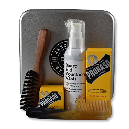 Executive Shaving Complet Barbe Et Moustache Kit D'entretien