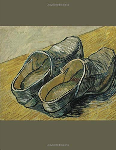 A pair of leather clogs,  Vincent van Gogh. Blank journal: 150 blank pages, 8,5x11 inch (21.59 x 27.94 cm) Soft cover