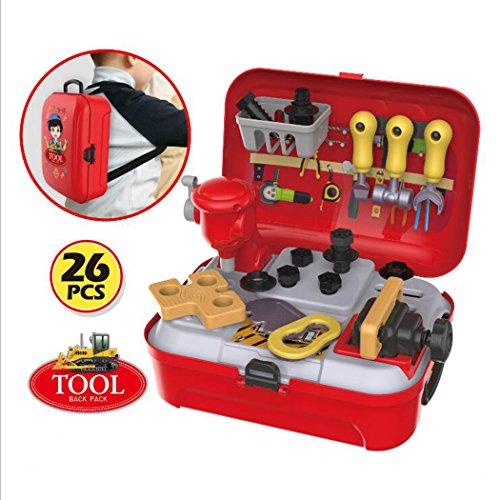 BFFACAI Spielwerkzeug Koffer Werkzeug Werkzeuge Rucksack-Box Rollenspiele für Kinder 3 Jahre