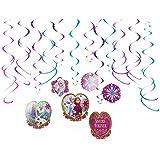 Amscan 670365 Frozen Swirls Hanging Decorations