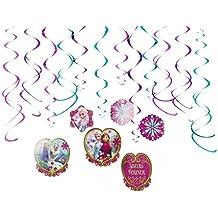 Disney - Guirnalda para fiestas, diseño Frozen, 12 piezas (670365)