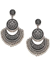YouBella Fashion Jewellery Afghani Tribal Oxidised Dangler Stylish Fancy Party Wear Earrings for Girls and Women
