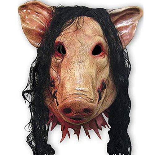 Kostüm Clown Sexy Unheimlich - ZXIU Masken für Kostüme Latex Schwein Maske Unisex Kostüm Cosplay