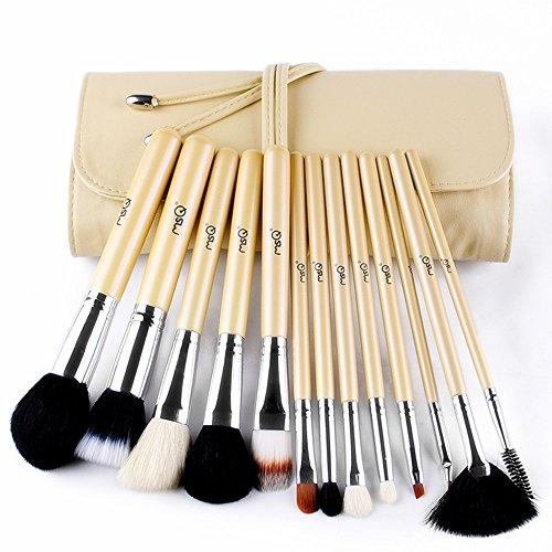 Set 13 pinceaux maquillage poils naturels