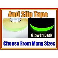 Luminous High Grip Anti Slip Tape Adhesive Backed Non Slip Tape Glow In Dark Choose from many size Luminous 'glow' Tapes (100MM Width, 1 M)