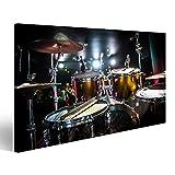 art up your life Bild Bilder auf Leinwand Schlagzeug auf der Bühne Warnung - authentische Aufnahmen mit hohem Iso unter schwierigen Lichtverhältnissen Etwas leichte Körnung und verschwommene Bewegu