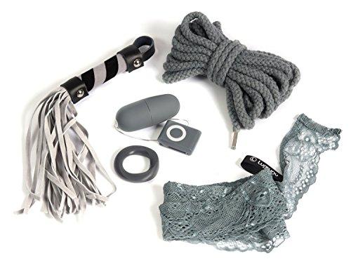 Deluxe BDSM Set Grey's Lust Collection, 5 teiliges Bondage Set in edler Geschenkbox, limitierte Grey Fessel Edition