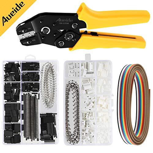 IZOKEE 460 pcs 2,54 mm JST-XH JST Stecker Kit mit Ratschen Crimpzange f/ür 0,1-1,5mm/² AWG28-16 Steckverbinder Kabel