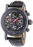 Chronoswiss 7545S Sirius Skelett Herren Automatik Uhr mit schwarzem Zifferblatt Chronograph-Anzeige und schwarz Gurt