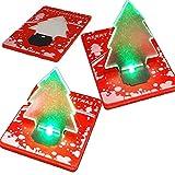 NAUC Mini Taschenlampe LED mini Nachtlicht Weihnachtsbaum LED Pocket Weihnachtskarte