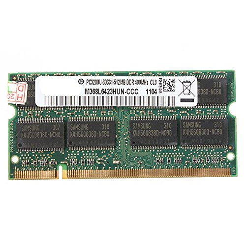 DyNamic 512 MB DDR-400 PC3200 Laptop Notebook (SODIMM) Arbeitsspeicher RAM-KIT 200-pol -