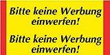 Metafranc Klebeschild Bitte keine Werbung einwerfen - 70 x 30 mm, 2 Stück/Beschilderung/Infoschild/Briefkastenschild/501080