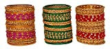 Multicolor glass bangles for women tradi...