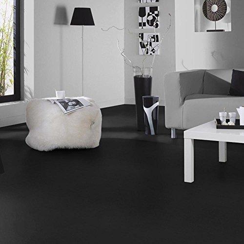 livingfloor® PVC Bodenbelag Fotohintergrund Einfarbig Uni Schwarz 2m Breite, Länge variabel Meterware, Größe:6.00x2.00 m