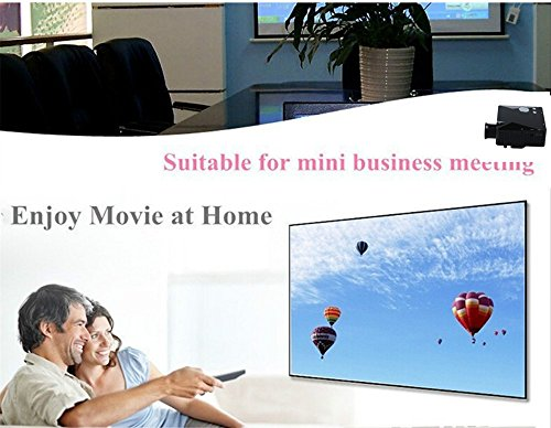 Flylinktech® 2015 Neu Tragbar Mini Projektor Multimedia HD LED Projektor Heimkini Home Theater LCD Beamer Mit HDMI USB SD AV VGA, Kompatibel Mit Smartphone & PC PS3 XBOX 360 DVD-Player Weiß