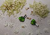 Coppia Fermaglio Alligatore Clips per Capelli Rose Verdi Bouquet 3,8 cm ~ AstraLuna Bijoux