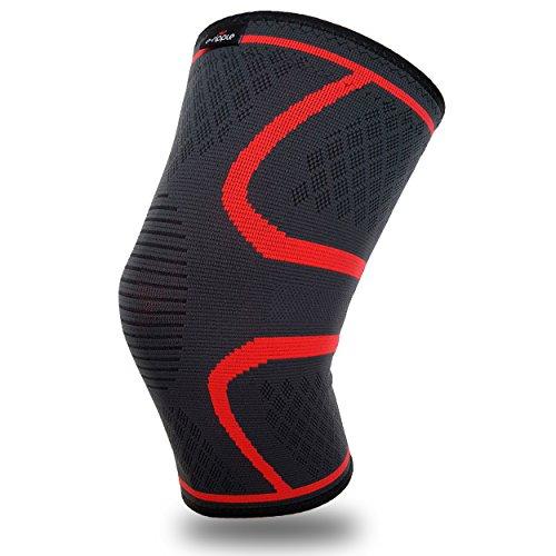 Kniebandage von e-ripple | hohe Qualität Knieschutz, Knieorthese, Sport Kompression als Unterstützung bei Meniskus- und Knieschmerzen | schnelle Erholung für Damen und Herren - single