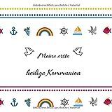 Meine erste heilige Kommunion: Gästebuch / Erinnerungsbuch zum Eintragen von Glückwünschen an das Kommunionskind | 100 Seiten | 21 x 21 cm | Regenbogen