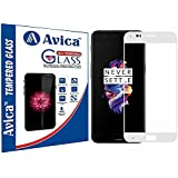AVICA® Full Edge To Edge White 3D Curved Tempered Glass Screen Protector For One Plus 5/One Plus Five/OnePlus 5
