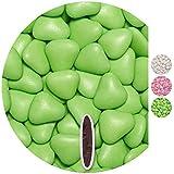 EinsSein 0,5kg Dragées mariage au chocolat cœur grand vert clair brillant dragees bapteme communion amandes feter et recevoir fêter de fete couleur pas cher aux bombe tag voir mes etui contenant boite