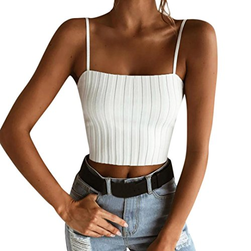 PINEsong Damen Sexy Bandage Backless Crop Top Kurz Trägershirts Tank Tops  Weste mit Bownot Halfter Off Shoulder Bluse T-Shirt Camisole Weste Cami  Tank Top ... a62c1c6bd9