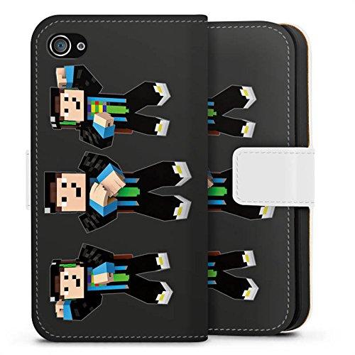 Apple iPhone X Silikon Hülle Case Schutzhülle GommeHD Fanartikel Merchandise Gomme Style Sideflip Tasche weiß
