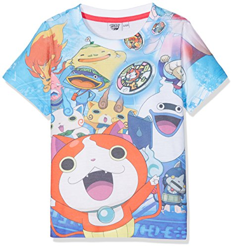 Yokai Watch YKSU27101, Camiseta Para Niñas, Bleu (Multi), 4 Años